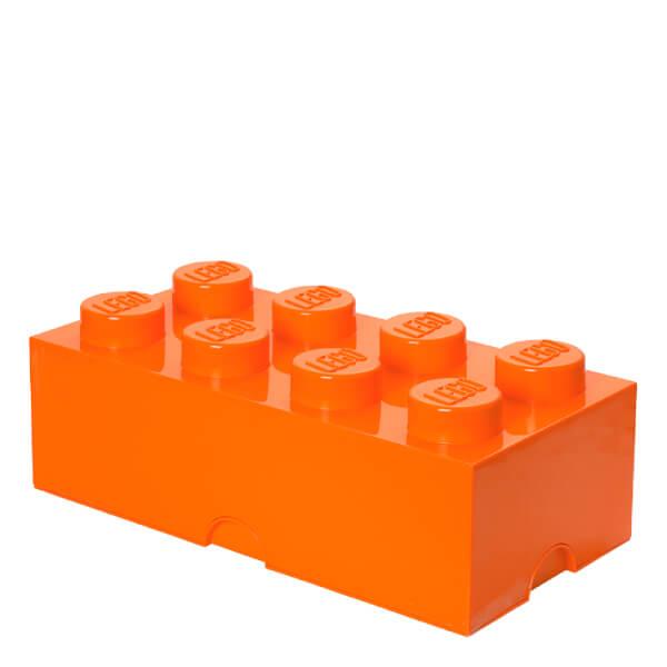 LEGO Storage Brick 8   Bright Orange