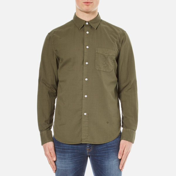 rag & bone Men's Standard Issue Beach Shirt - Dark Olive