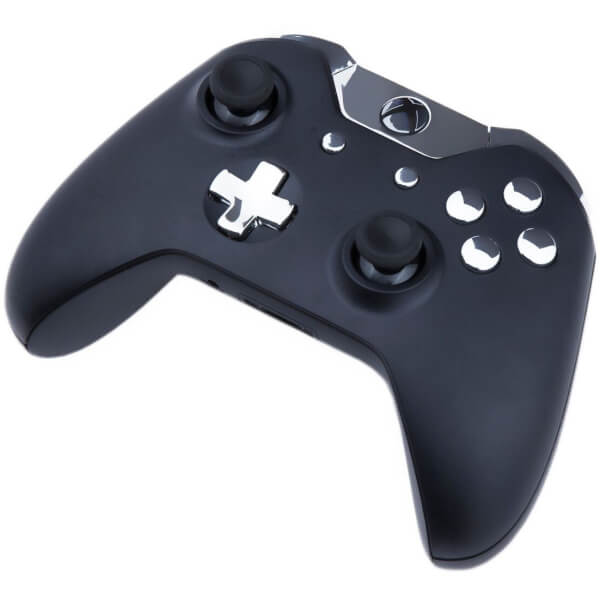 Custom Controllers Xbox One Controller - Matte Black & Chrome Silver Games Accessories | Zavvi