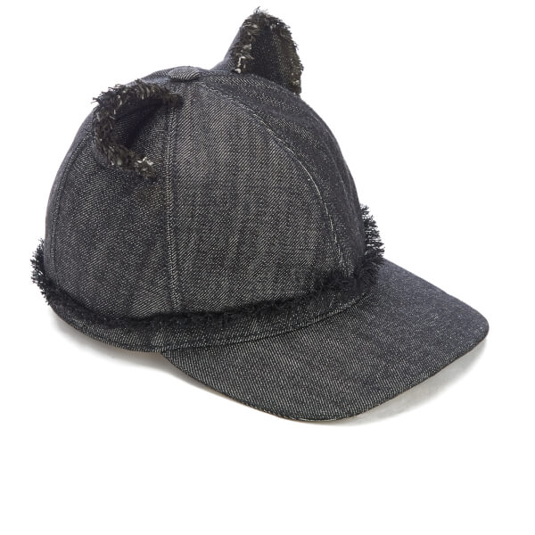 women cat ears cap blue denim image black ear baseball ebay