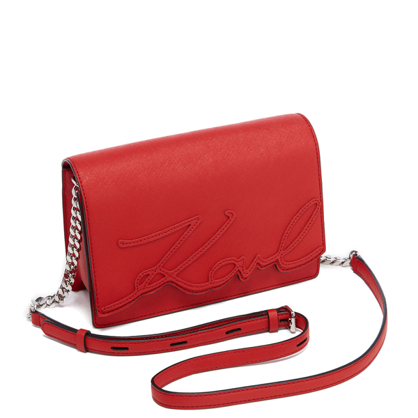 4439ecd1ceed Karl Lagerfeld Women s K Signature Shoulder Bag - Scarlet  Image 4