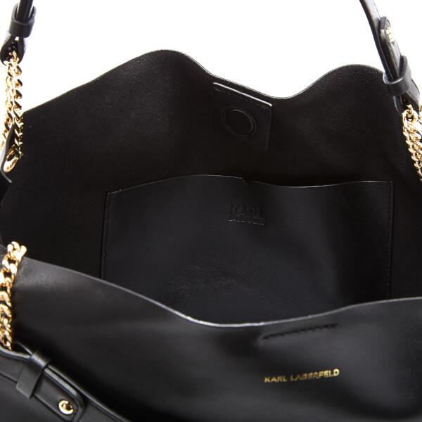 44f9753b44 Karl Lagerfeld Women s K Slouchy Shopper Bag - Black  Image 5