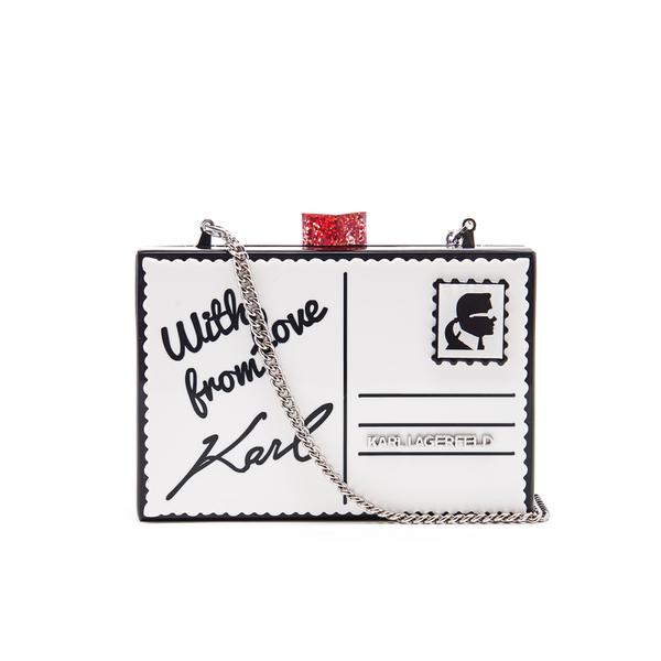 Acheter Pas Cher D'origine Karl Lagerfeld Carte Postale Sac Minaudière En Plexi Noir Réduction Manchester Grande Vente Expédition Bonne Vente Libre officiel Vente Ebay Pas Cher weHvNdr