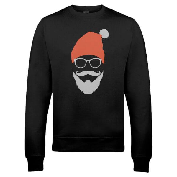 Cool Santa Christmas Sweatshirt - Black
