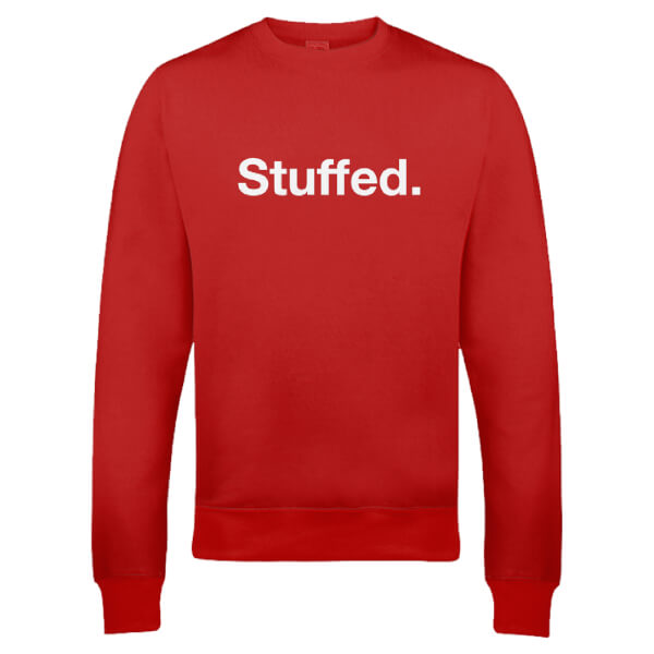Stuffed Christmas Sweatshirt - Red