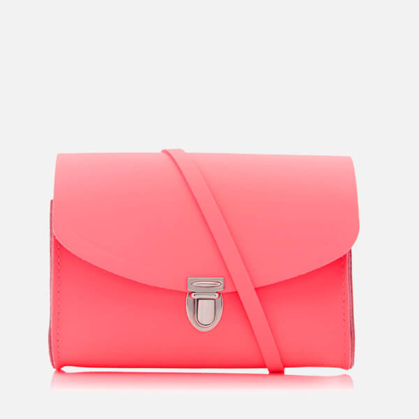 The Cambridge Satchel Company Women's Push Lock Shoulder Bag - Neon Coral