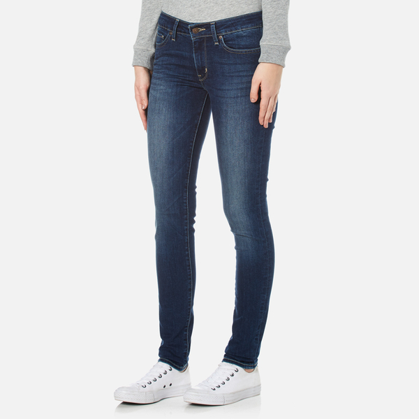 levi 39 s women 39 s 711 skinny jeans long way blues clothing. Black Bedroom Furniture Sets. Home Design Ideas
