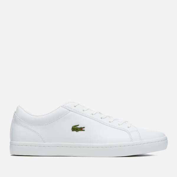 Lacoste Men's Straightset Bl 1 Leather Trainers - White