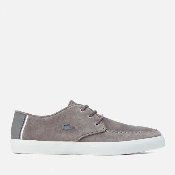 a933da77630a3f Lacoste Men s Sevrin 316 1 Suede Boat Shoes - Dark Grey Mens ...