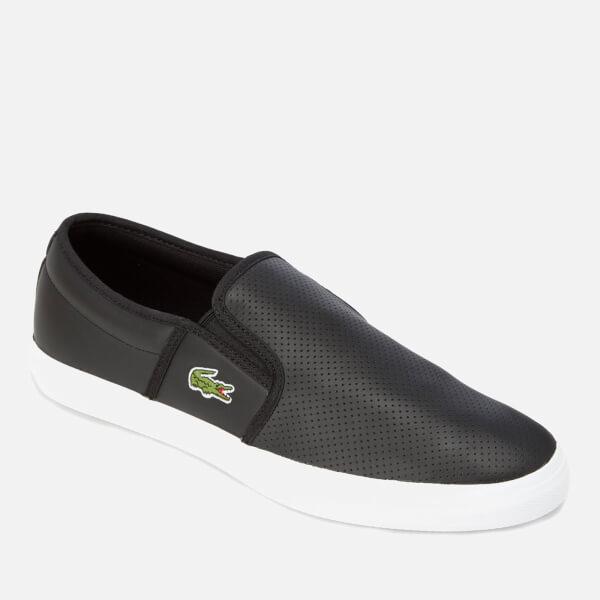 e9470860481cb2 Lacoste Men s Gazon Bl 1 Leather Slip-On Trainers - Black  Image 2