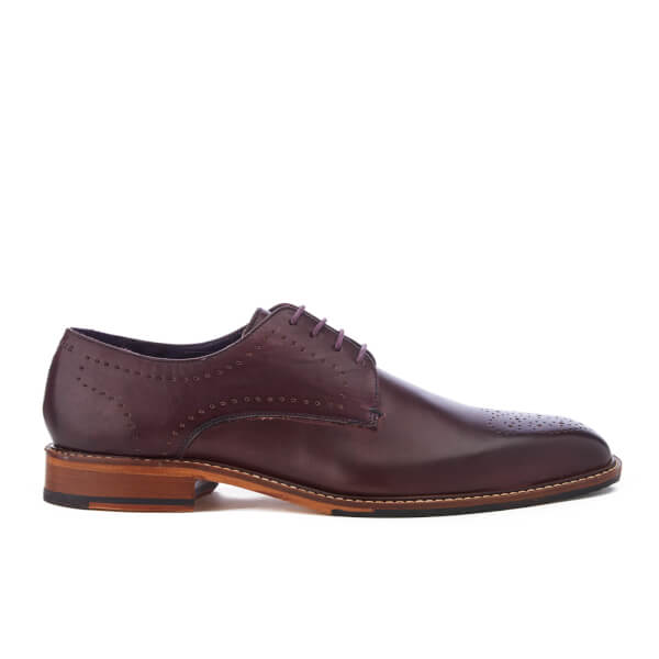 Ted Baker Men S Marar Leather Punched Detail Derby Shoes