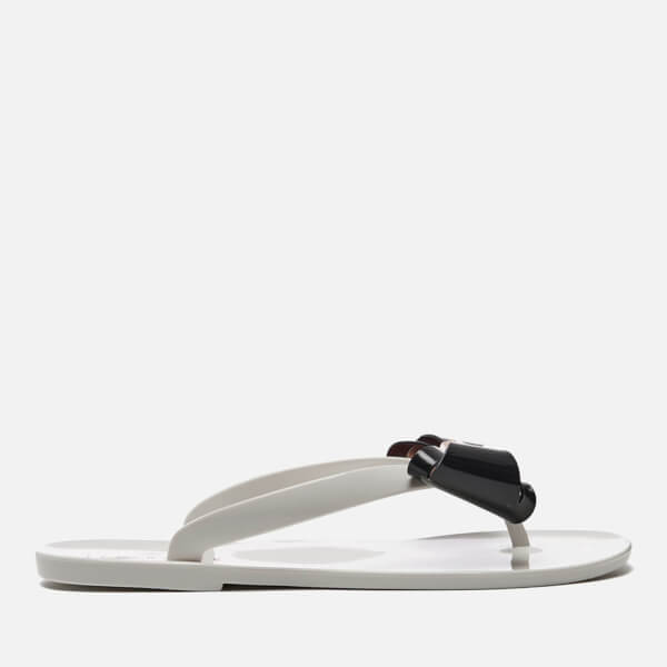 Ted Baker Women's Refeek PVC Bow Flip Flops - Cream/Black