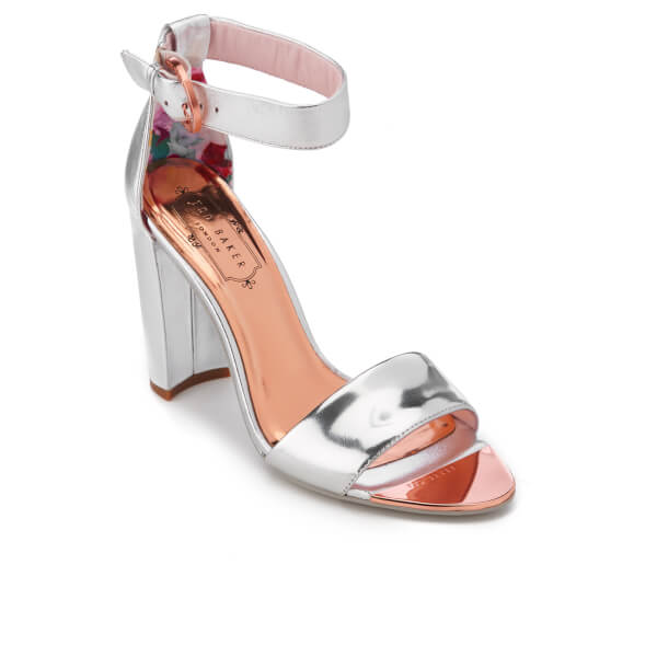 4647bf93756 Ted Baker Women s Secoa Leather Heeled Sandals - Silver  Image 2