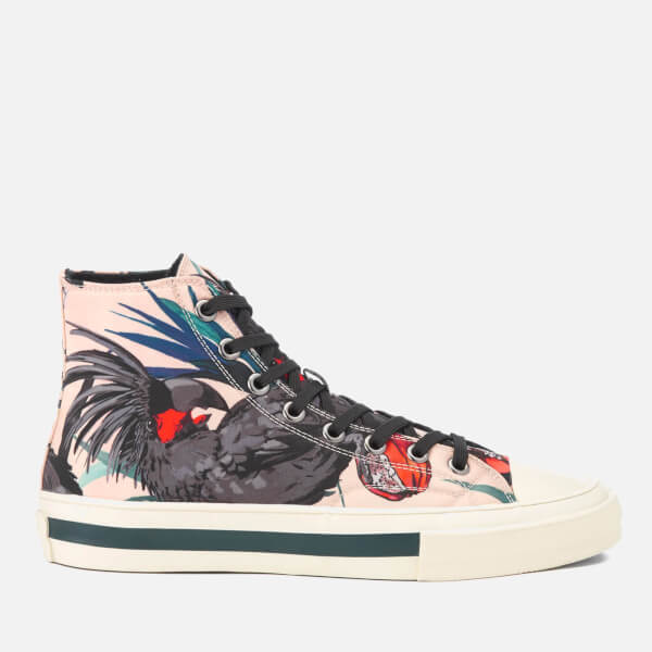 PS by Paul Smith Men's Kirk Printed Hi Top Trainers - Beige Cockatoo Print