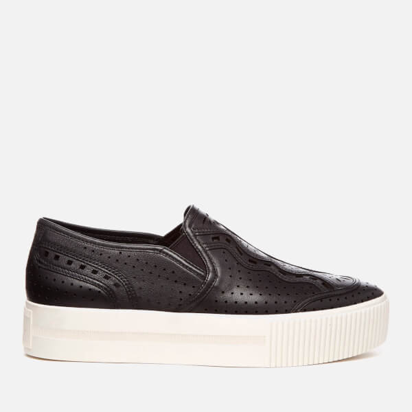 Ash Women's Kingston Nappa Calf Slip-On Trainers - Black