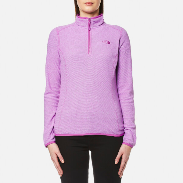 d7e3685b6255c1 The North Face Women s 100 Glacier 1 4 Zip Fleece - Sweet Violet Stripe