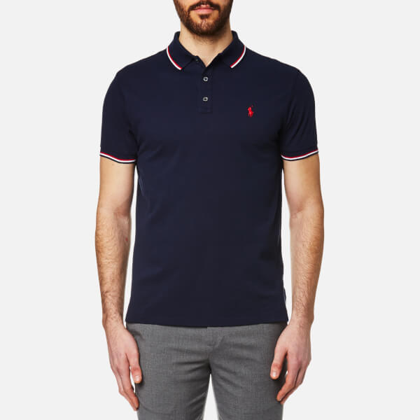 Polo Ralph Lauren Men s Tipped Polo Shirt - Navy - Free UK Delivery ... f4344d04c1a7