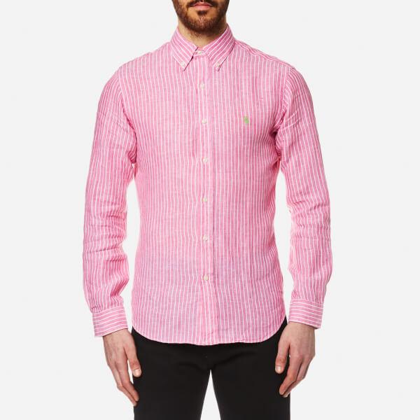 Ralph Lauren Slim-fit Linen Shirt - Pink 2qhW98t