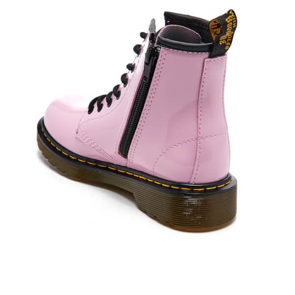 Dr. Martens Kids  Delaney Patent Lamper Lace Boots - Baby Pink  Image 4 a2cf6815a1bd