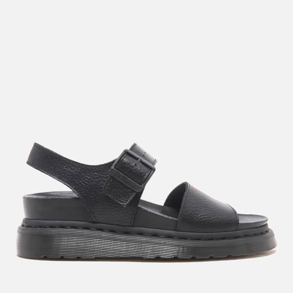 Dr. Martens Women's Fusion Romi Y Strap Sandals - Black Pebble Leather