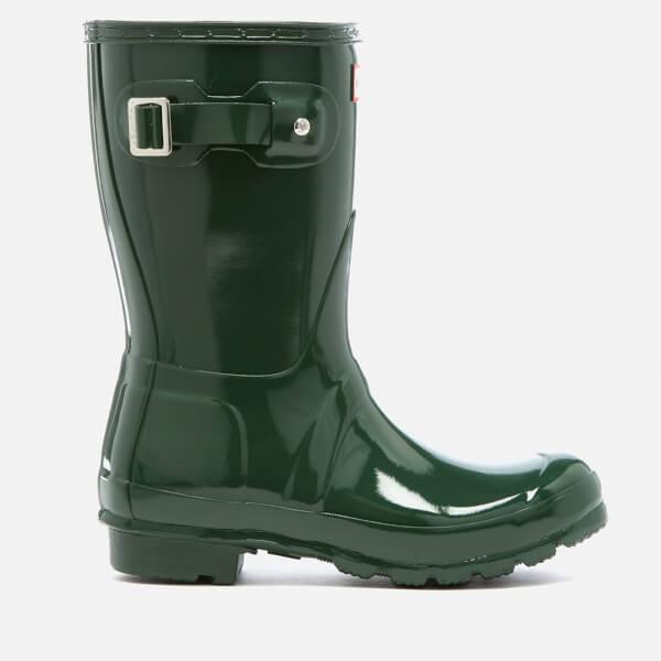 Buy Women Shoes / Hunter Original Short Gloss Green Wellington Boots