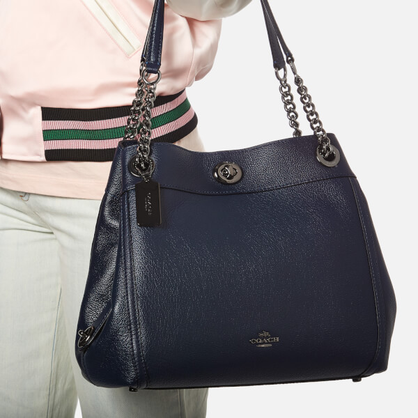 79afa9d01a85 Coach Women s Turnlock Edie Shoulder Bag - Navy  Image 3
