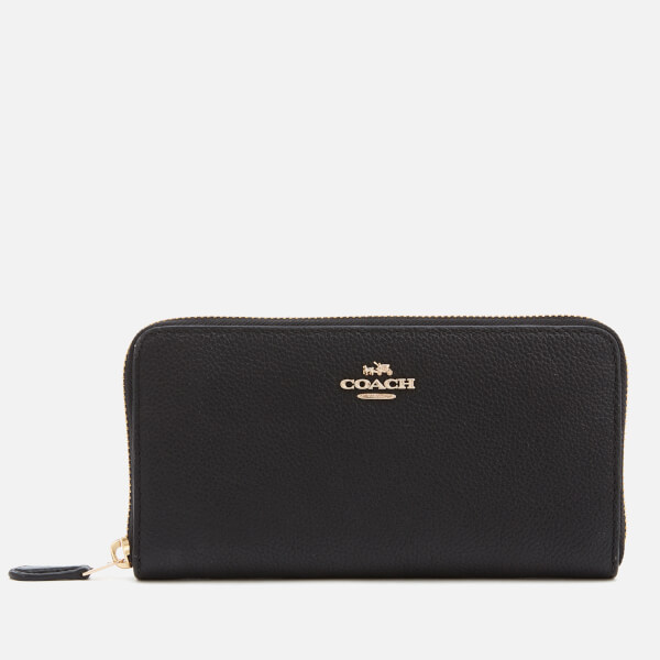 Coach Women's Accordian Zip Wallet - Black