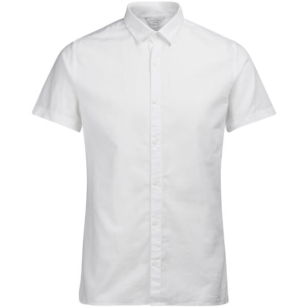 Jack & Jones Men's Core Phlake Short Sleeve Shirt - Sky Captain