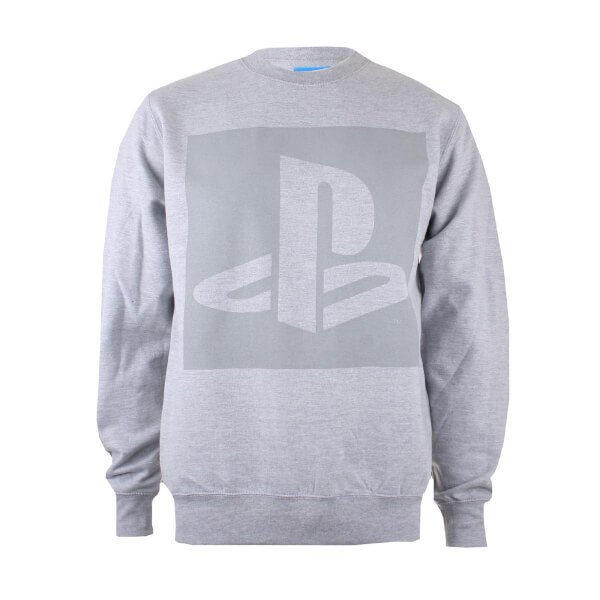 PlayStation Men's Block Logo Sweatshirt - Grey Heather