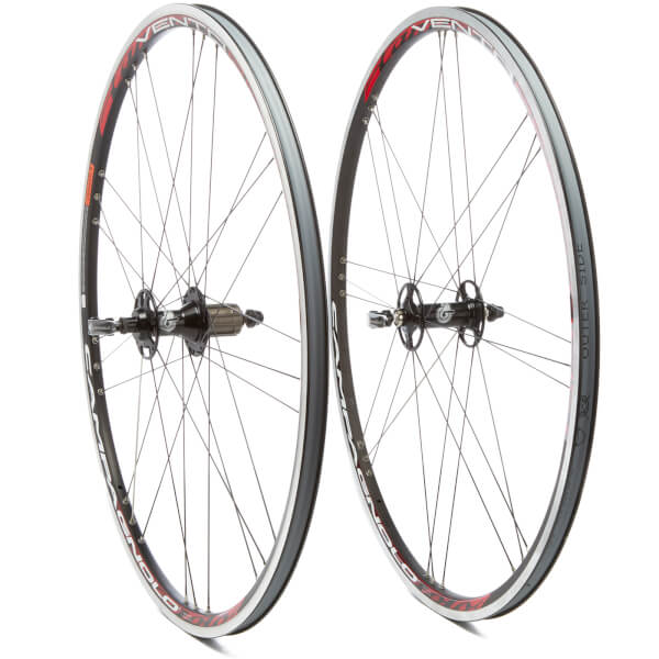 Campagnolo Vento Reaction Clincher Wheelset 2010 - Black - Shimano/SRAM