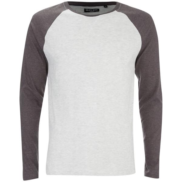 T-Shirt Osbourne Manches Longues Raglan Brave Soul -Écru