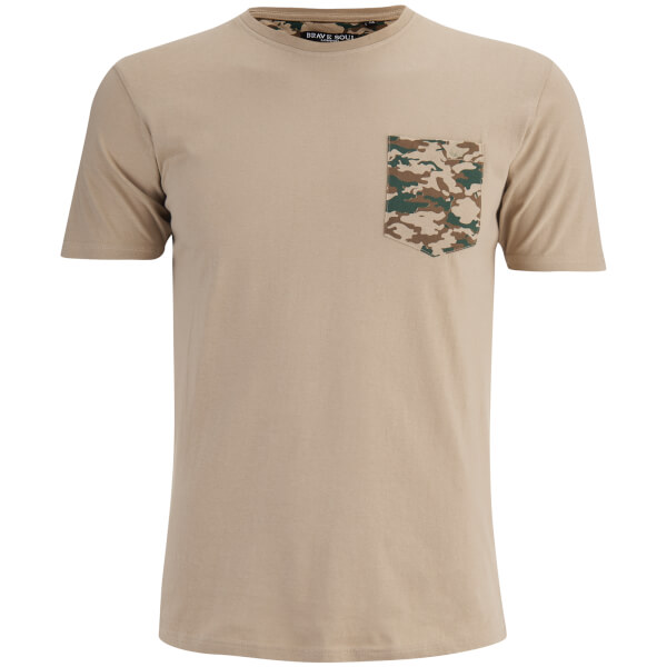 T-Shirt Homme Pulp Camouflage Brave Soul -Beige