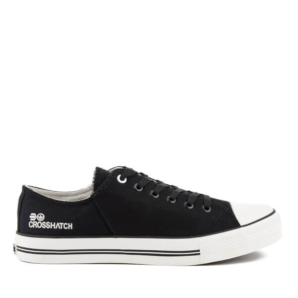 Crosshatch Men's Landslide Canvas Trainers - Black