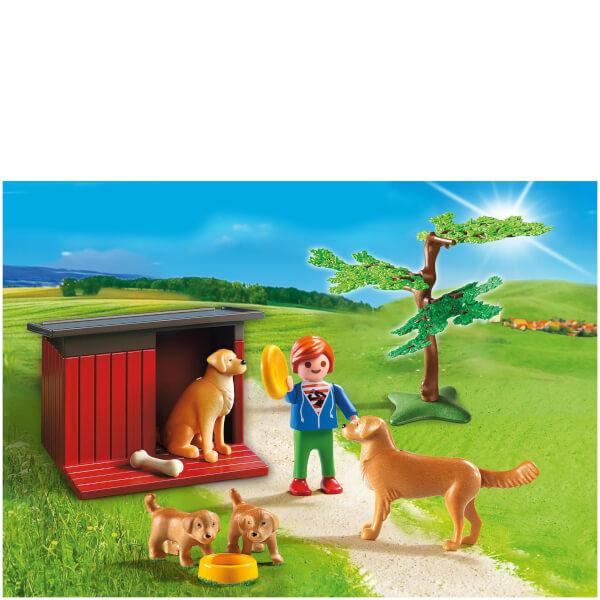 Enfant avec famille de golden retrievers -Playmobil (6134)