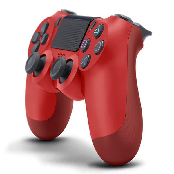 manette dualshock 4 v2 sony playstation 4 rouge games. Black Bedroom Furniture Sets. Home Design Ideas