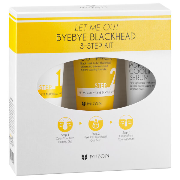Mizon Let Me Out Byebye Black Head 3-Step Kit