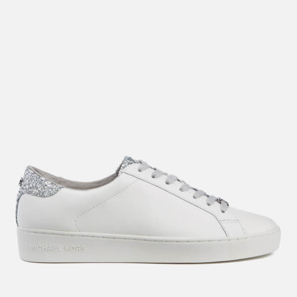 MICHAEL MICHAEL KORS Women's Irving Lace Up Court Trainers - Optic White/Silver
