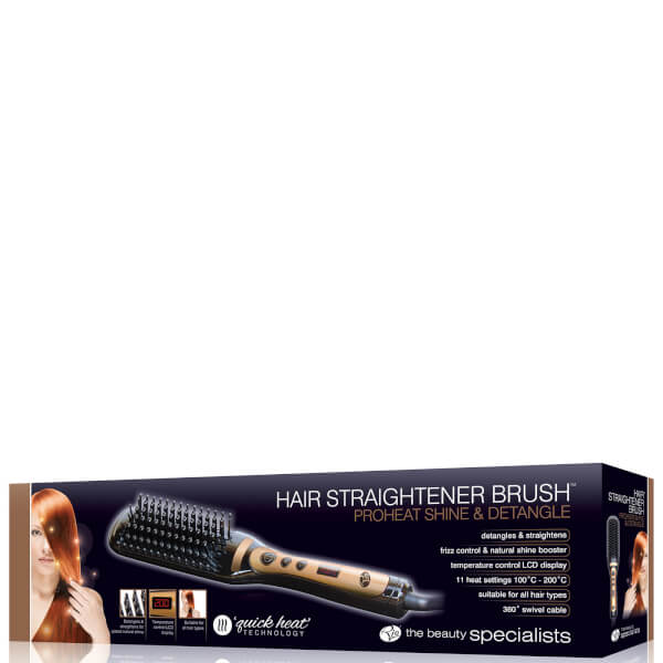 Rio Proheat Shine and Detangle Hair Straightening Brush