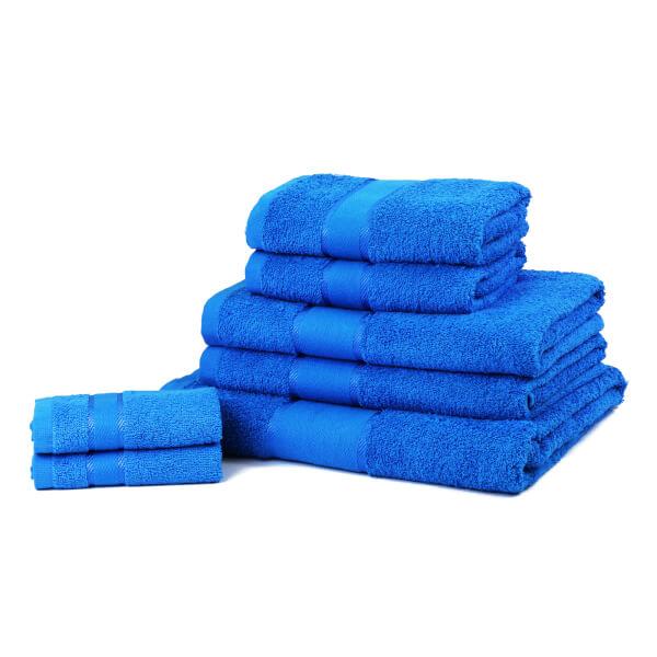 Serviettes de Bain 100% Coton (450gsm) Restmor - Turquoise (Lot de 7)