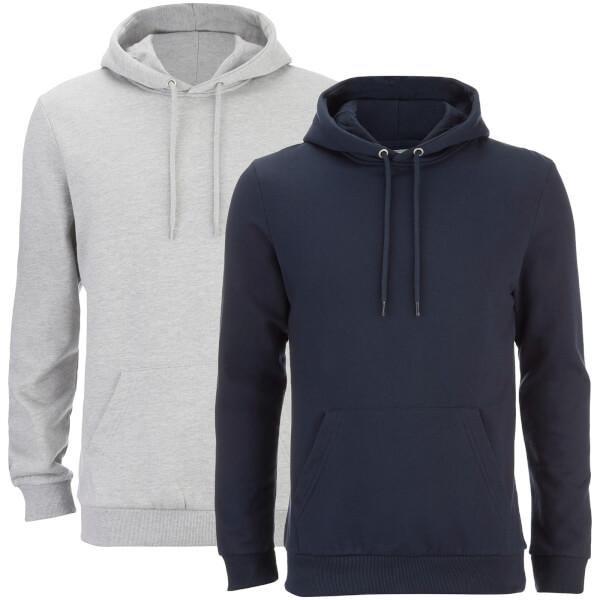 Smith & Jones Men's Rooski 2 Pack Hoody - Grey/Navy