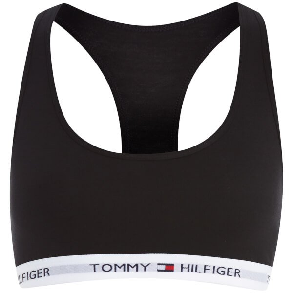 4fbe89646b Tommy Hilfiger Women s Cotton Bralette Iconic - Black Womens ...