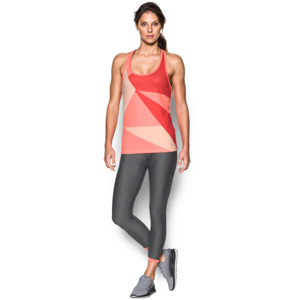 Under Armour Women's Geo Run Tank - London Orange
