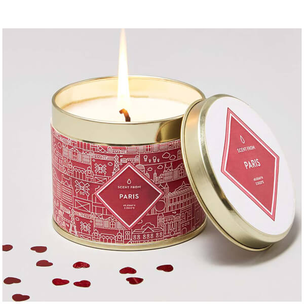 Paris Inspired Luxury Large Tin Candle - White Truffle and Cognac