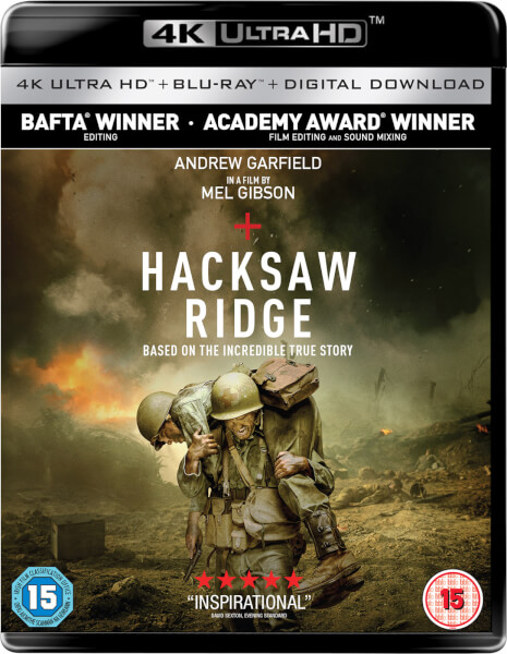 Hacksaw Ridge 4k Ultra Hd Blu Ray Zavvi