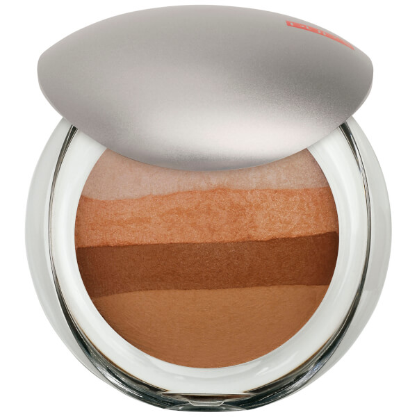 PUPA Luminys Baked All Over Illuminating Blush Powder - Natural Stripes