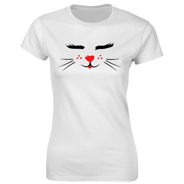 T-Shirt Femme Fitness Chat -Blanc
