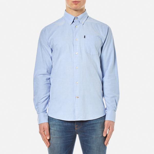 Barbour Men's Stanley Long Sleeve Shirt - Blue