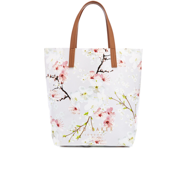 bfebae929fa98c Ted Baker Women s Caitlen Oriental Blossom Large Shopper Bag - Light Grey   Image 1