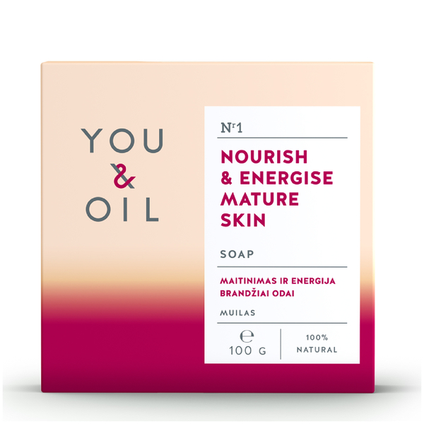 You & Oil Nourish & Energise Soap for Mature Skin 100g