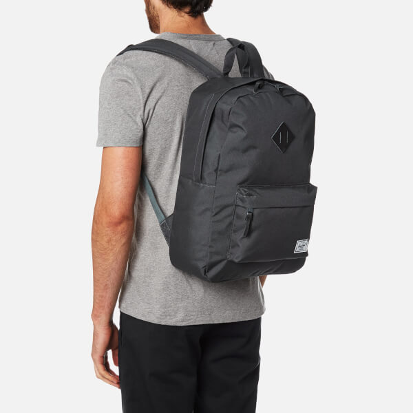 21f1e227b3b Herschel Supply Co. Heritage Backpack - Dark Shadow Black Pebbled Leather   Image 3
